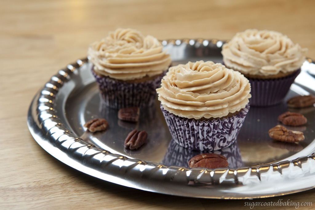 ... and Pecan Cupcakes with Caramel Buttercream Frosting | Sugar Coated