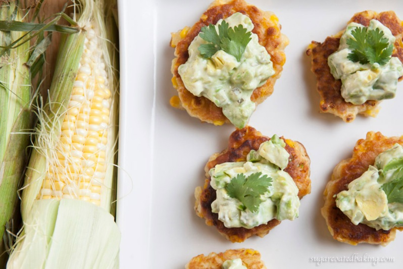 Corn Cakes with Avocado Tartar