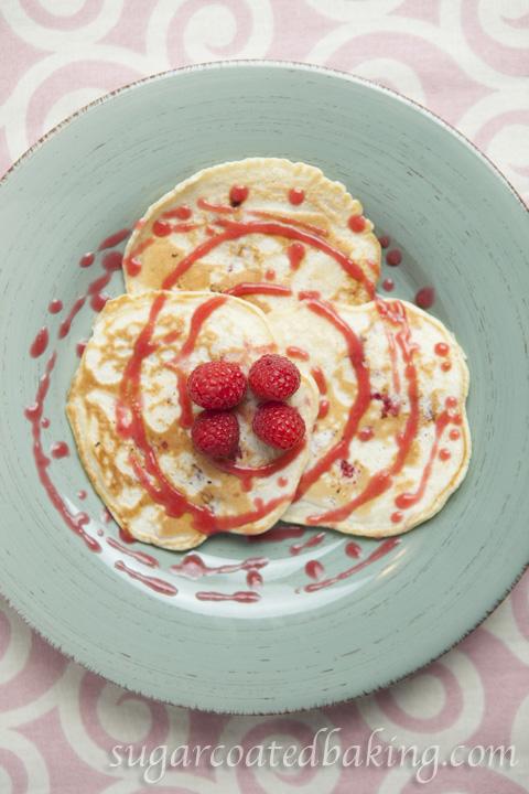Raspberry Pancakes for Sugar Coated Baking.com