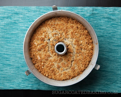 Sugar Coated Baking's Blueberry and Almond Streusel Cake