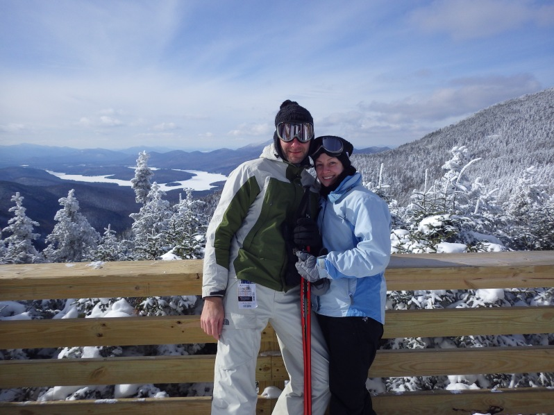 Jacob and I taking a little break at Whiteface.