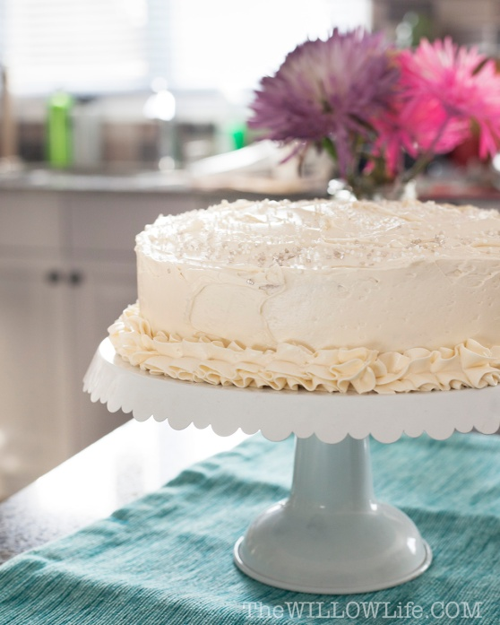 White Cake with Buttercream Icing